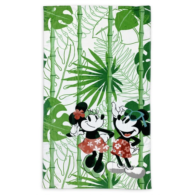Mickey and Minnie Mouse Tropical Beach Towel