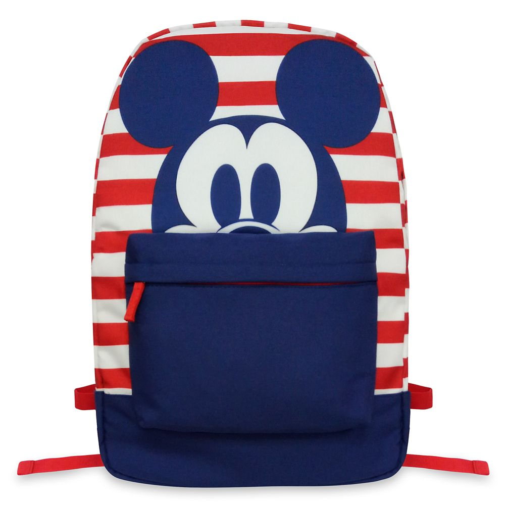Mickey Mouse Striped Backpack