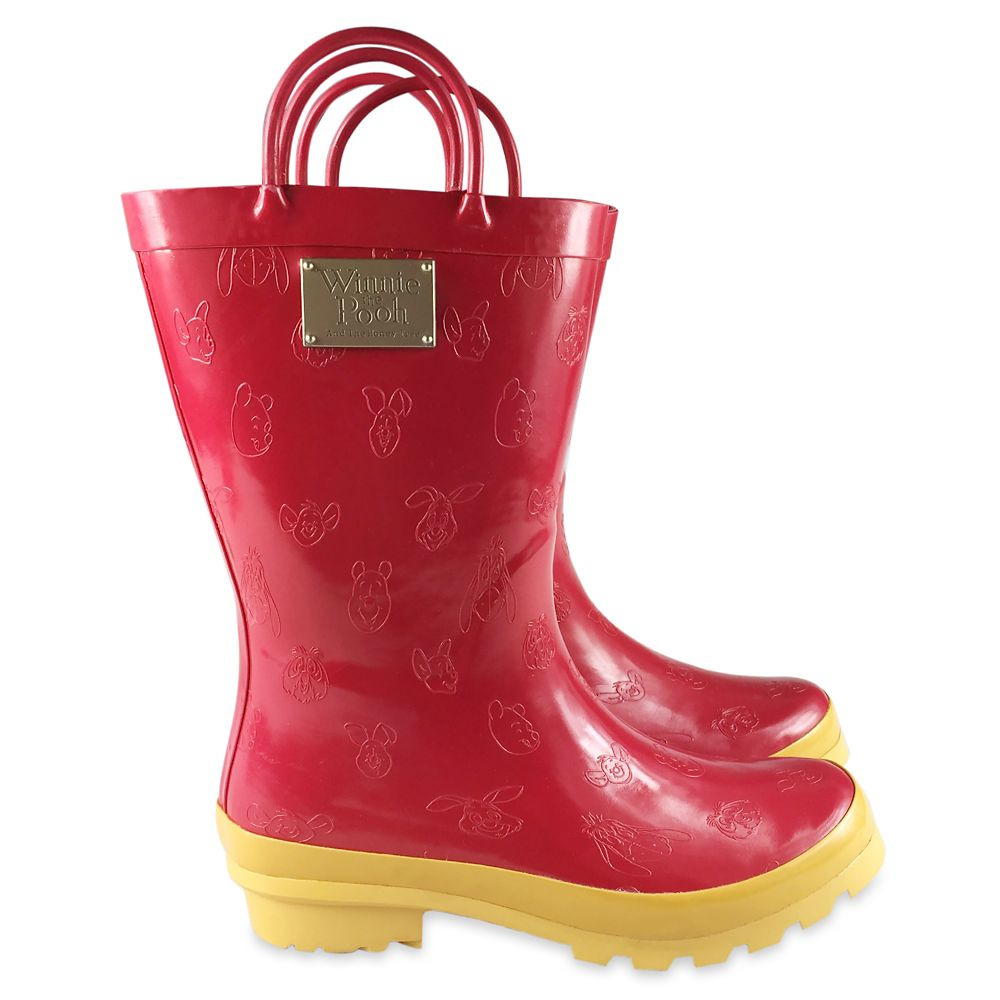 Winnie the Pooh Anniversary Rain Boots for Women