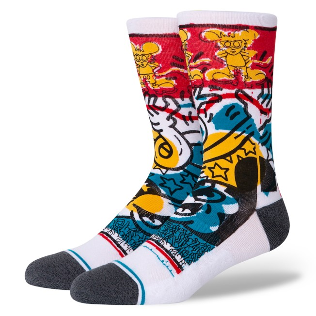 Mickey Mouse x Keith Haring ''Primary'' Socks for Adults by Stance