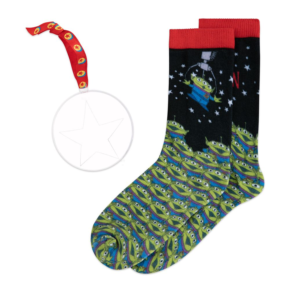 Toy Story Alien Holiday Socks in Ornament for Adults