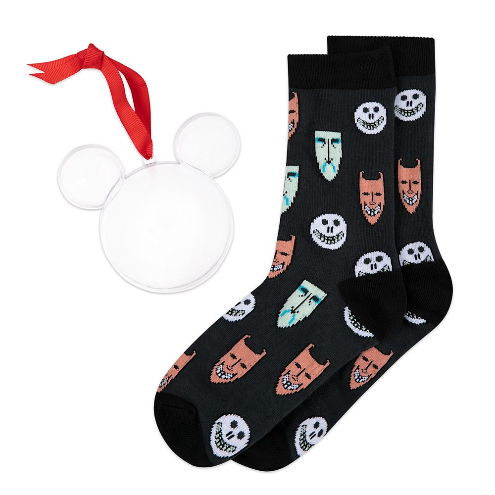 Lock, Shock and Barrel Holiday Socks in Ornament for Adults – The Nightmare Before Christmas