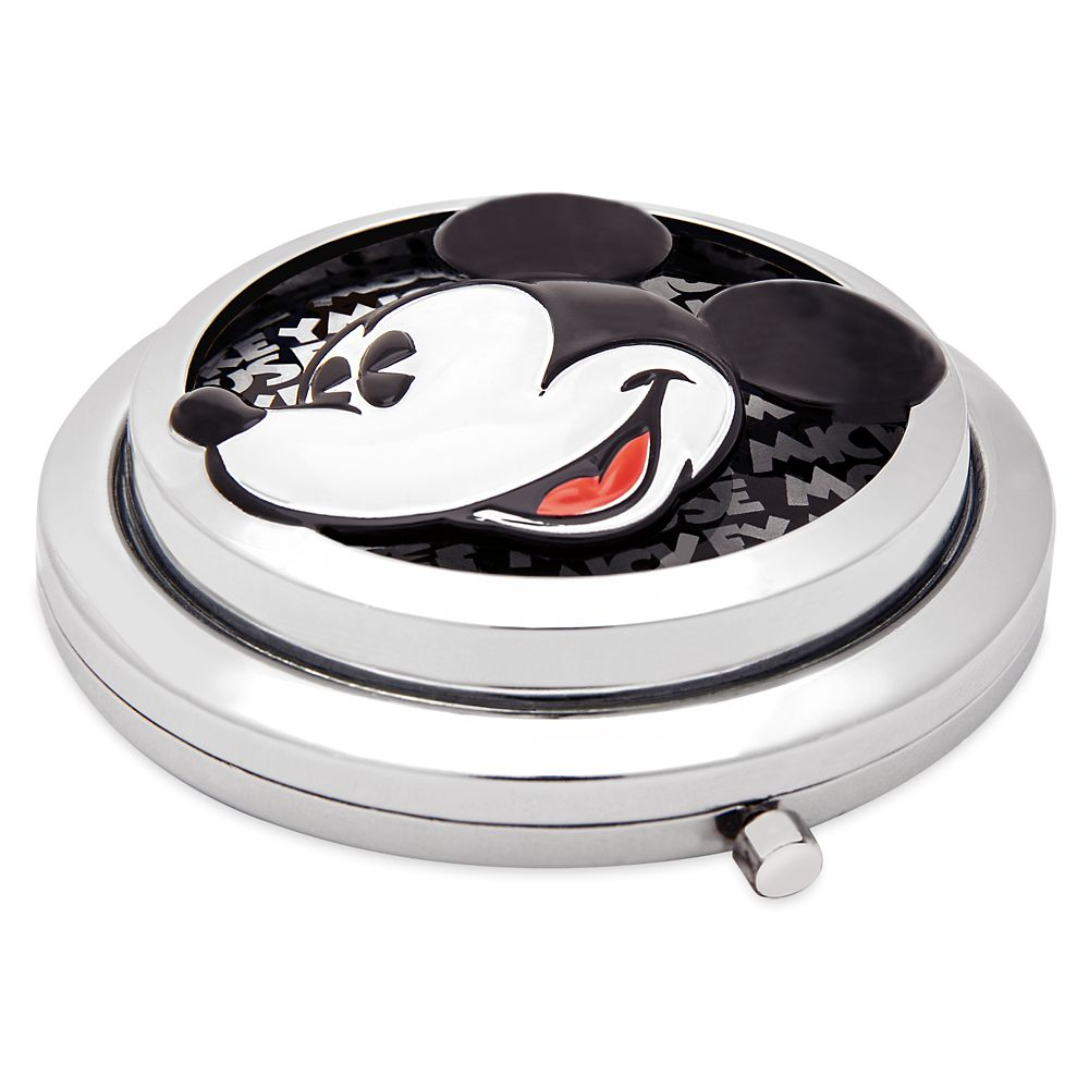 Mickey Mouse Grayscale Glass Compact Mirror