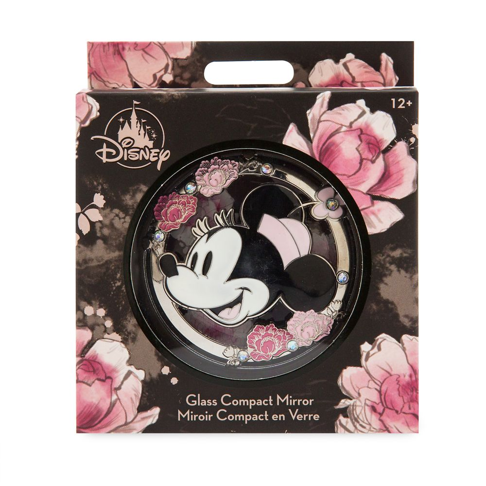 Minnie Mouse Floral Glass Compact Mirror