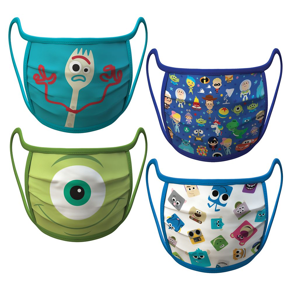 PIXAR Cloth Face Masks 4-Pack Set