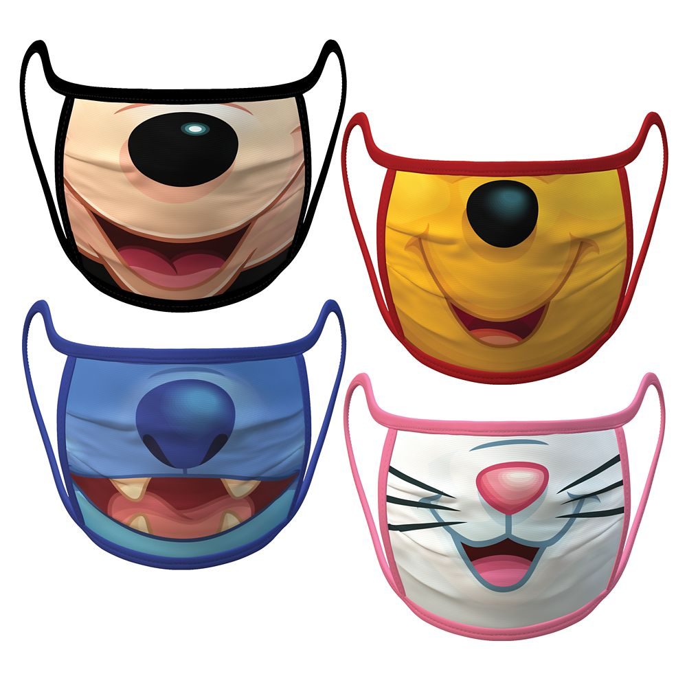 Disney Cloth Face Masks 4-Pack Set – Pre-Order