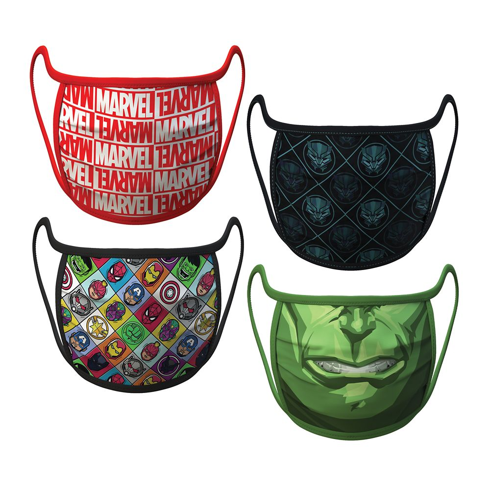 Adult Large – Marvel Cloth Face Masks 4-Pack Set – Pre-Order