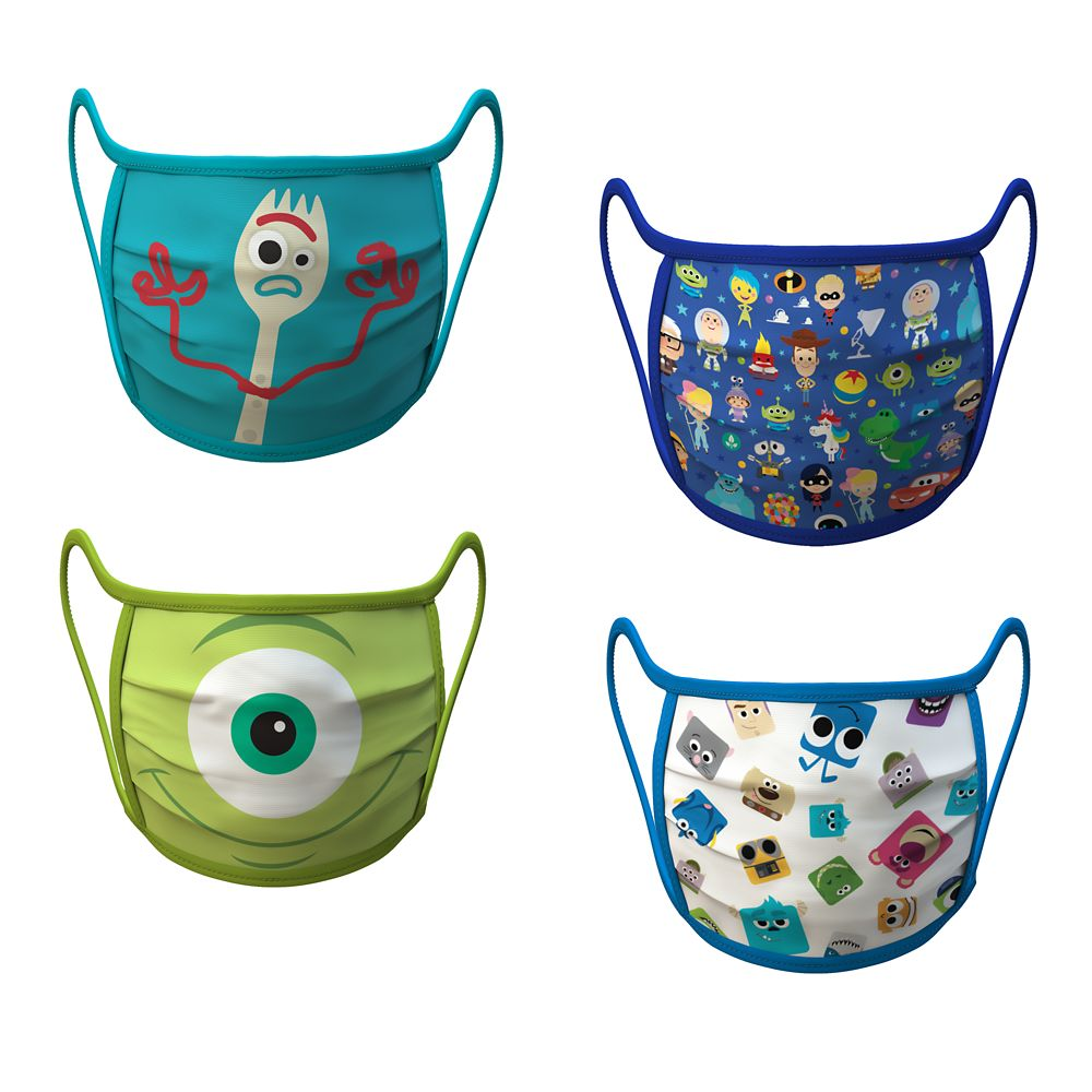 Medium PIXAR Cloth Face Masks 4-Pack Set Pre-Order Official shopDisney