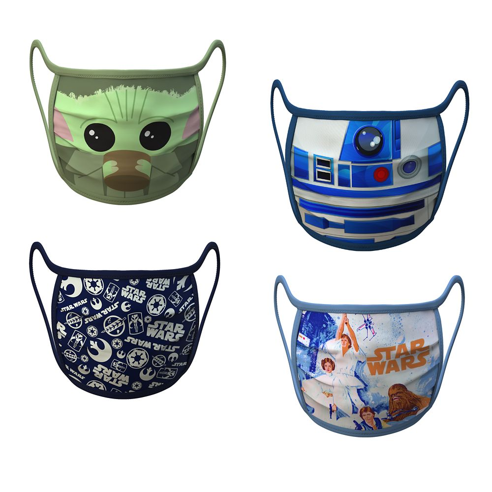 Medium Star Wars Cloth Face Masks 4-Pack Set Pre-Order Official shopDisney