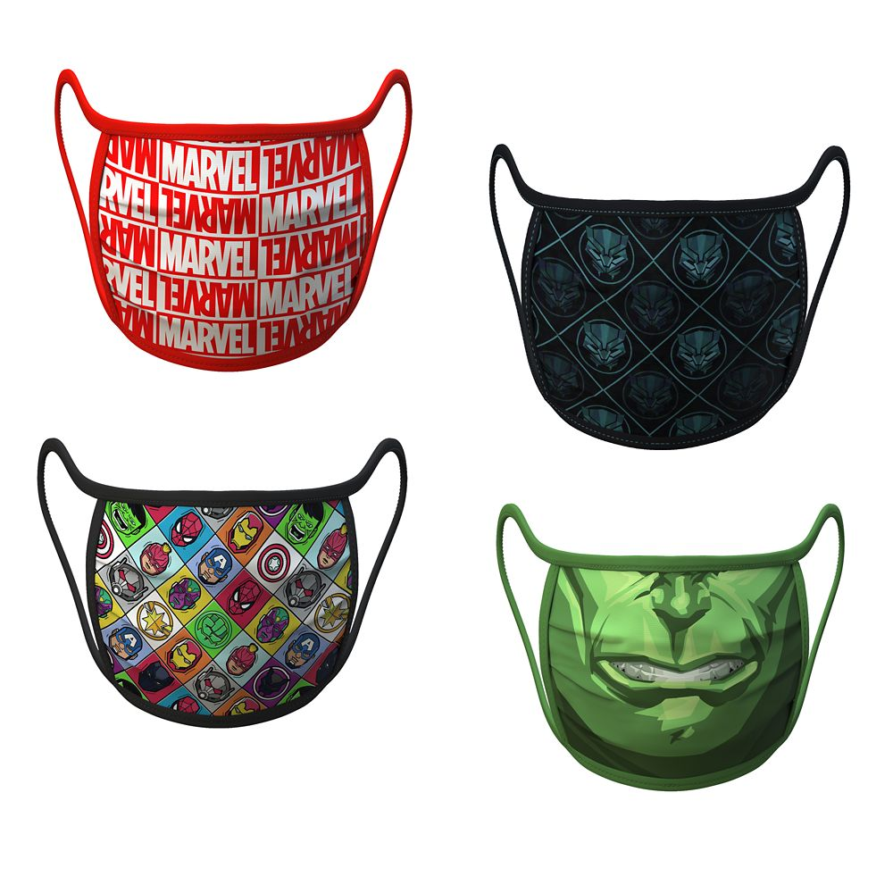 Medium Marvel Cloth Face Masks 4-Pack Set Pre-Order Official shopDisney
