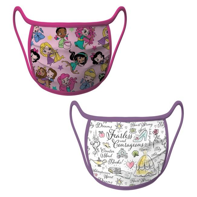 Cloth Face Masks 2-Pack – Disney Princess
