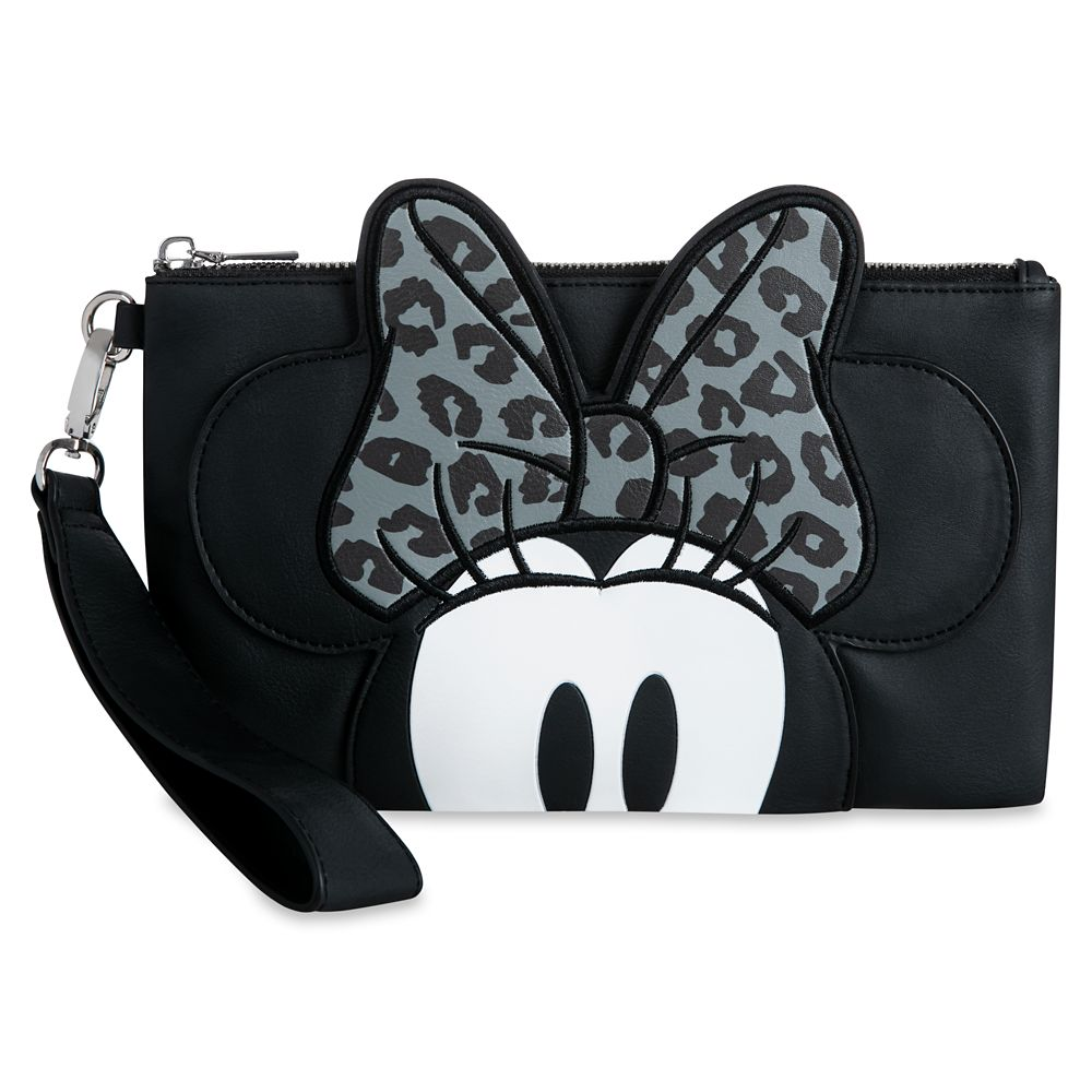 Minnie Mouse Grayscale Wristlet