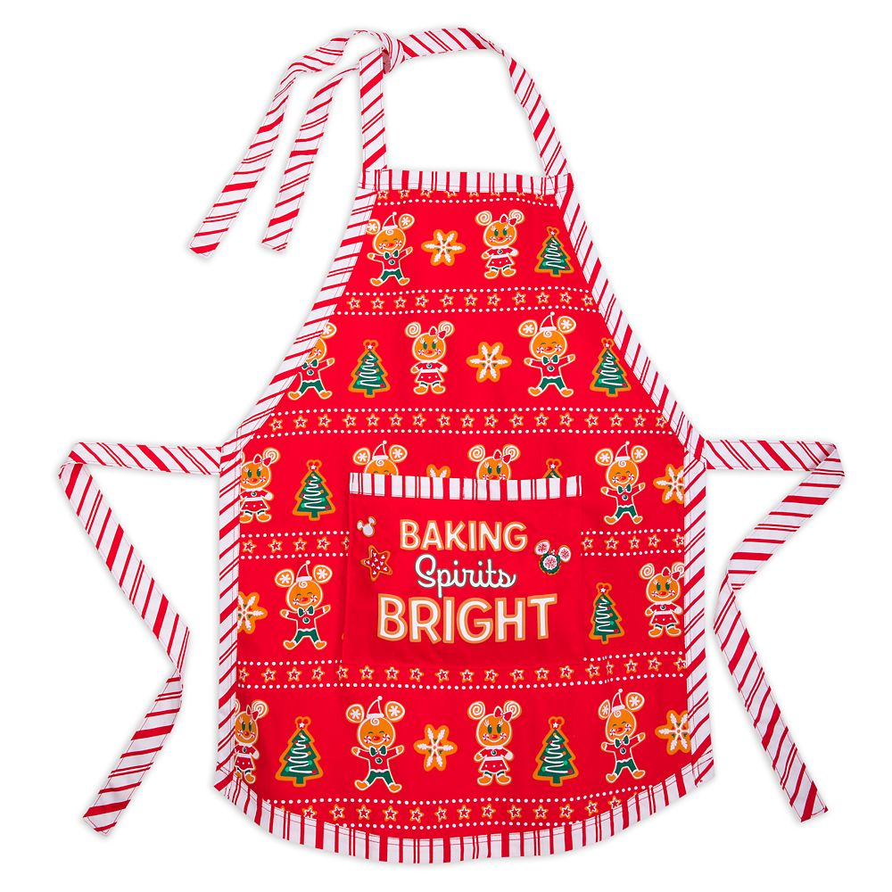 Mickey and Minnie Mouse Holiday Apron for Adults Official shopDisney