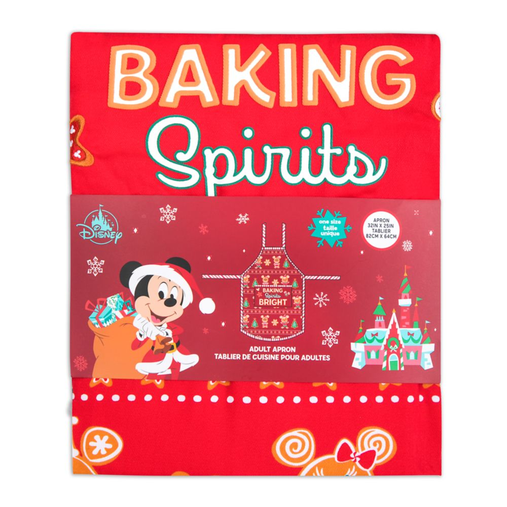 Mickey and Minnie Mouse Holiday Apron for Adults
