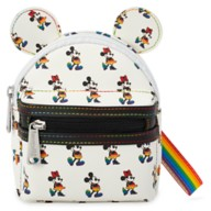 Mickey and Minnie Mouse Loungefly Wristlet – Rainbow Disney Collection