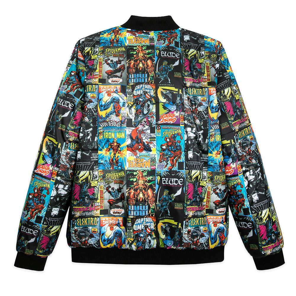 Marvel Comics 80th Anniversary Reversible Varsity Jacket for Men