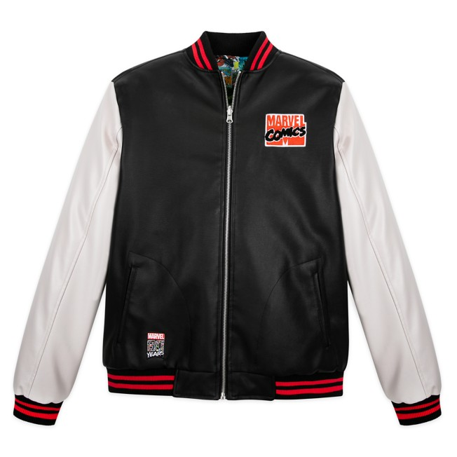 Marvel Comics 80th Anniversary Reversible Varsity Jacket for Men