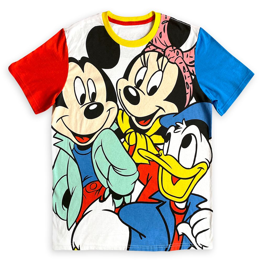 Mickey Mouse and Friends Color Block T-Shirt for Adults – Mickey & Co.