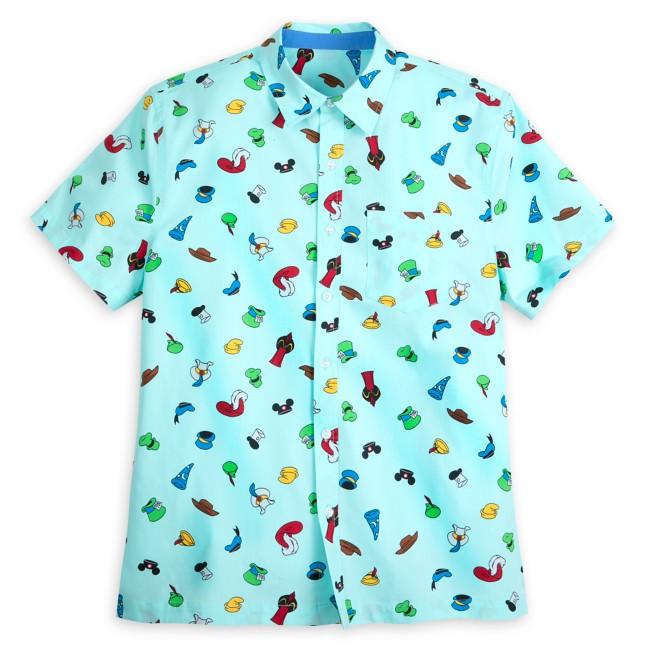 Disney Character Hats Woven Shirt for Men