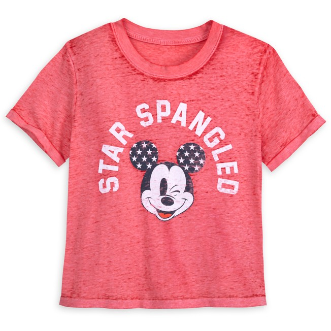 Mickey Mouse Vintage Wash Americana T-Shirt for Women