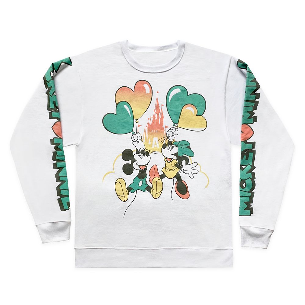 Mickey and Minnie Mouse Pullover Sweatshirt for Adults