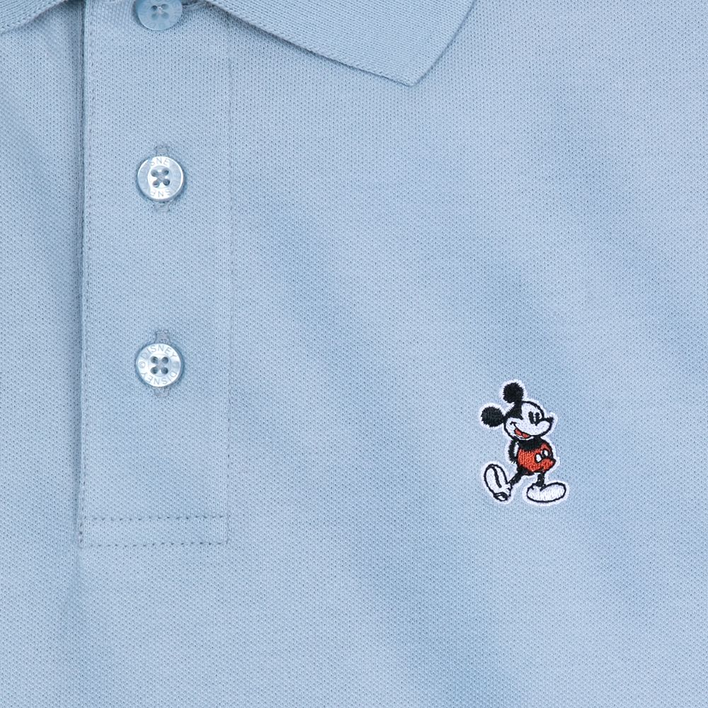 Mickey Mouse Polo Shirt for Adults – Sky Blue