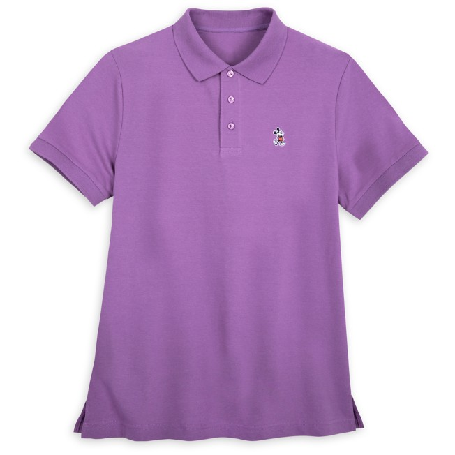 Mickey Mouse Polo Shirt for Adults – Purple
