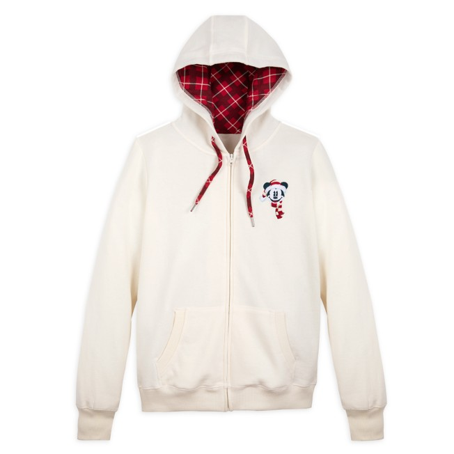Mickey Mouse Holiday Zip-Up Hoodie for Women
