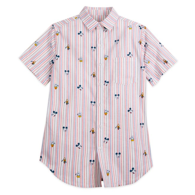 Mickey Mouse and Friends Summer Fun Woven Shirt for Men
