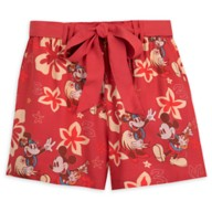Mickey and Minnie Mouse Tropical Shorts for Women