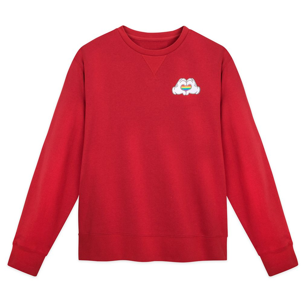 Rainbow Disney Collection Mickey Mouse Heart Hands Fleece Pullover – Fashion Fit – 2020
