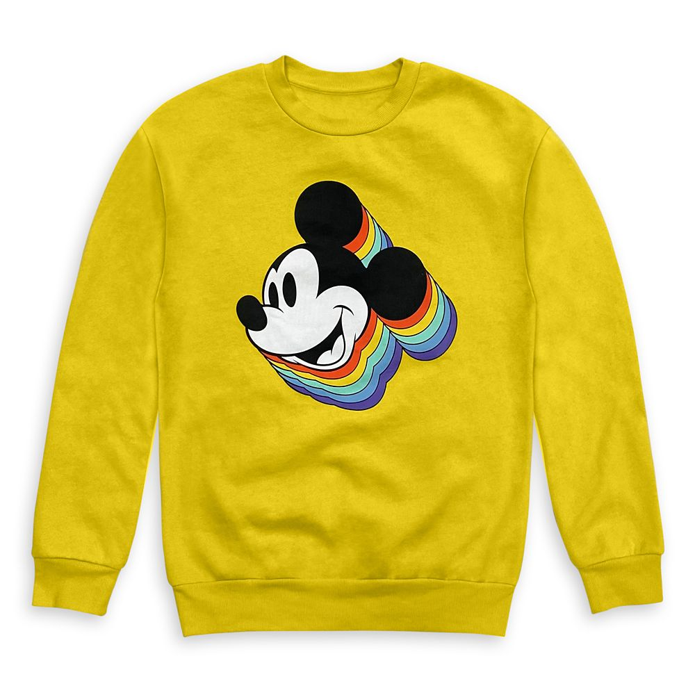 Mickey Mouse Rainbow Sweatshirt for Adults – Mickey & Co.