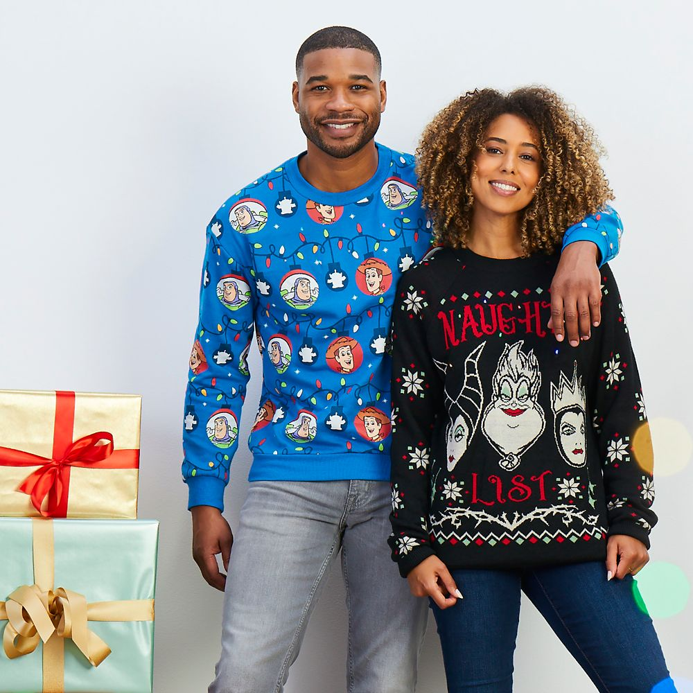 Disney Villains Light-Up Holiday Sweater for Adults