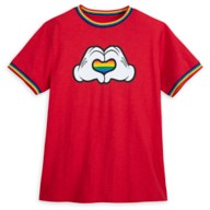 Mickey Mouse Heart Hands T-Shirt for Adults – Rainbow Disney Collection