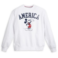 Mickey Mouse Icon Americana Pullover Sweatshirt for Adults