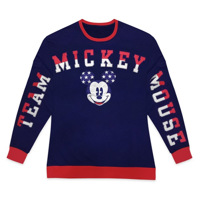 Mickey Mouse Americana Long Sleeve Pullover for Adults