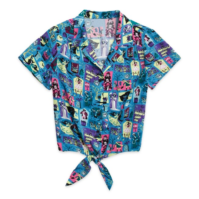 The Haunted Mansion Woven Camp Shirt for Women by Her Universe