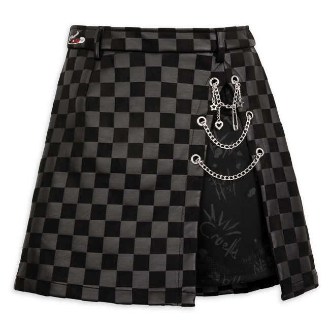 Cruella Faux Leather Skort for Adults by Her Universe – Live Action