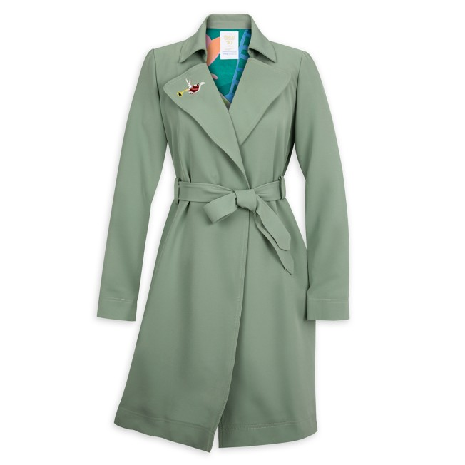 1950s Coats and Jackets History Alice in Wonderland by Mary Blair Trench Coat for Women by Her Universe – Pre-Order $79.99 AT vintagedancer.com