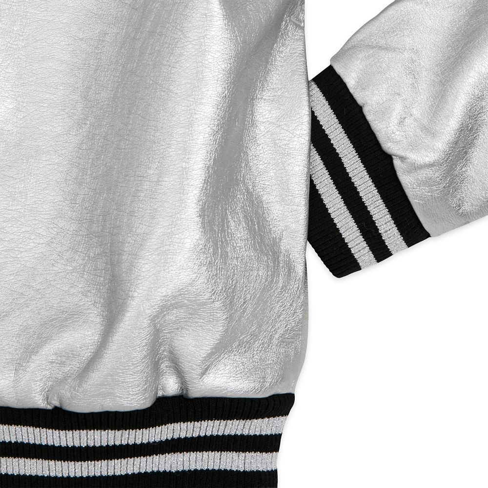 Mickey Mouse Grayscale Varsity Jacket for Women