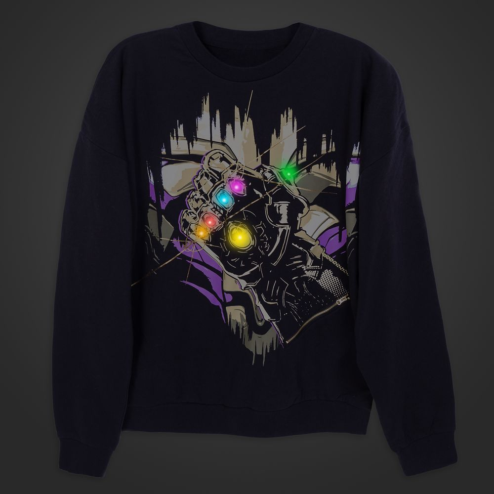Thanos Infinity Gauntlet Light-Up Sweatshirt for Men