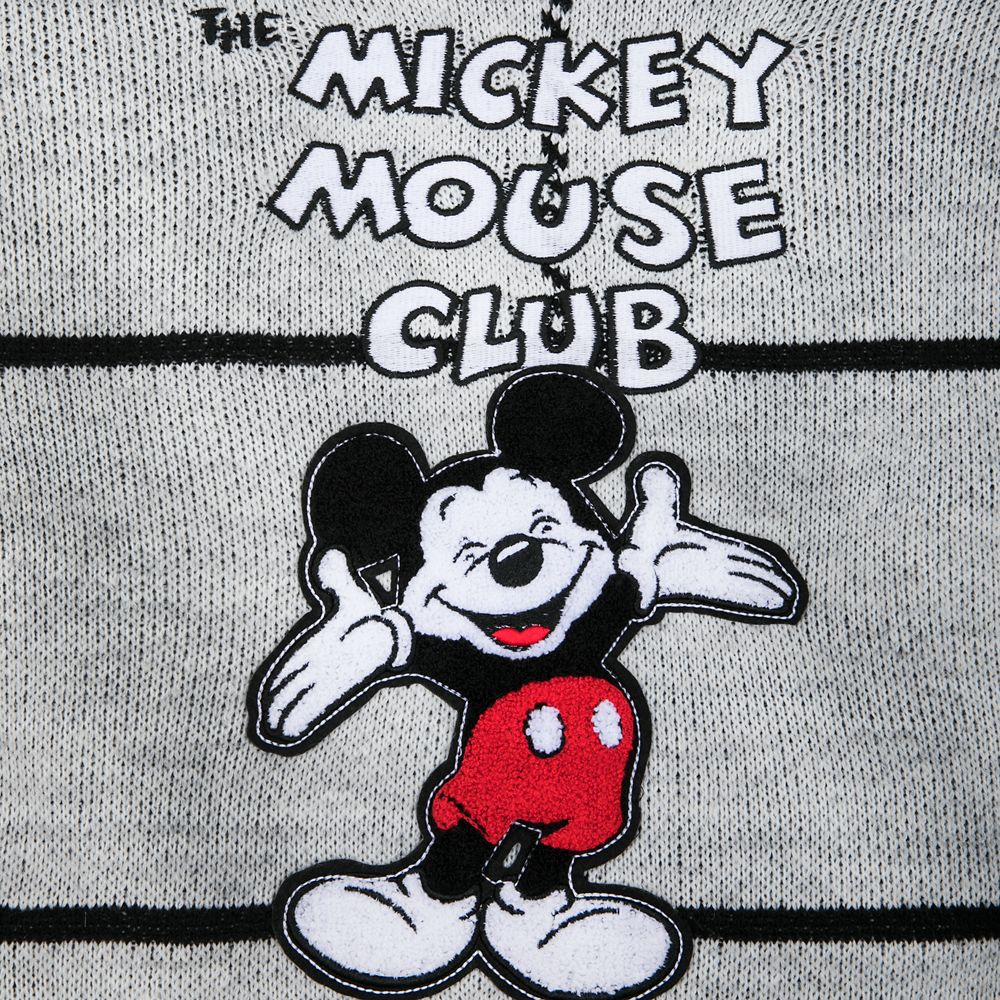 Mickey Mouse Club Grayscale Sweater for Women