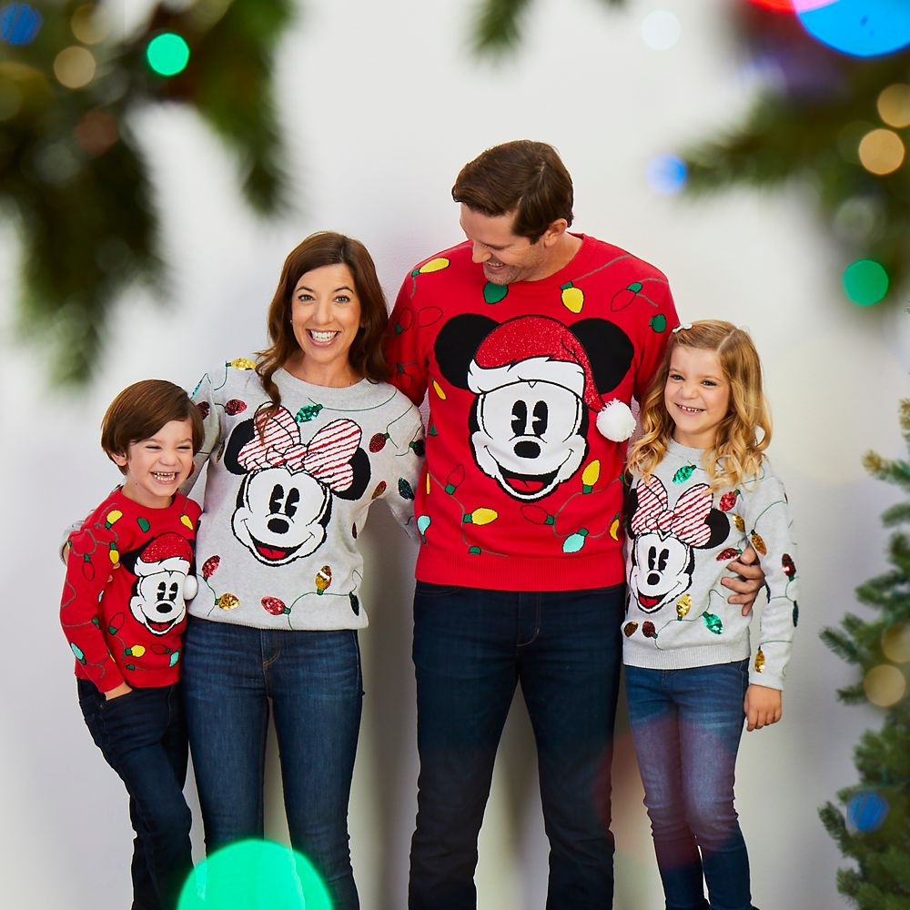 Santa Mickey Mouse Holiday Cheer Sweater for Men