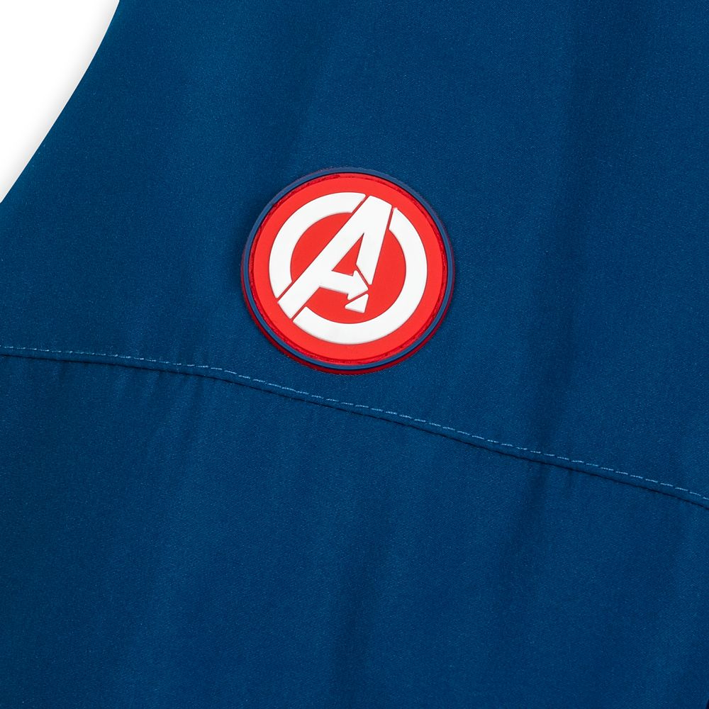 Captain America Costume Zip Hoodie for Adults