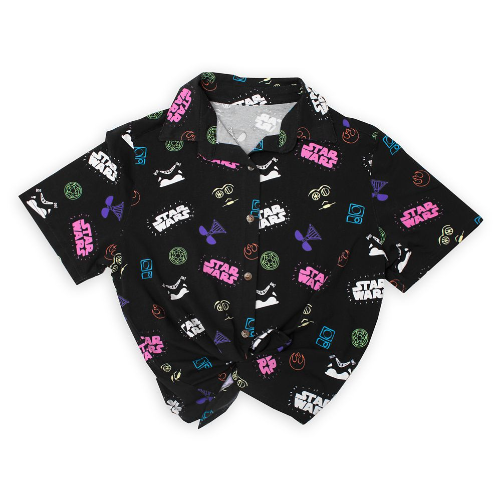 Star Wars Tie-Front Shirt for Women by Cakeworthy