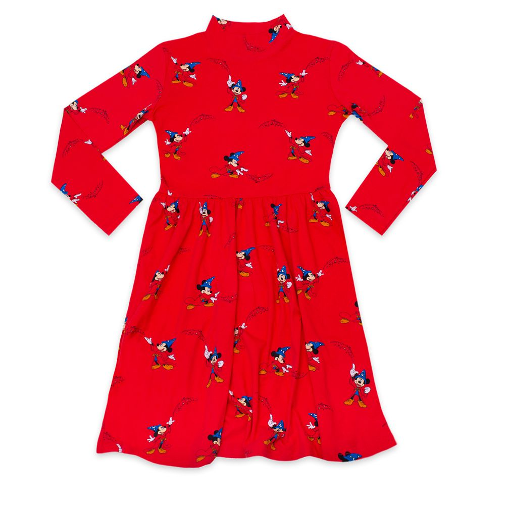 Sorcerer Mickey Mouse Mock Neck Dress for Women by Cakeworthy – Fantasia