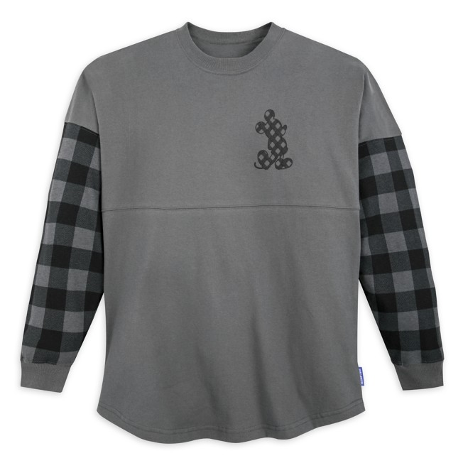 Mickey Mouse Plaid Sleeve Spirit Jersey for Adults – Disneyland