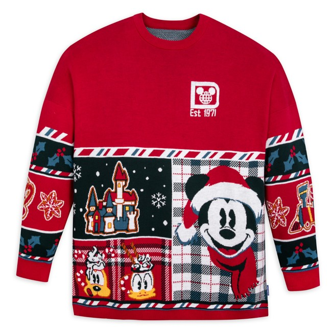 Mickey Mouse and Friends Holiday Sweater by Spirit Jersey for Adults – Walt Disney World