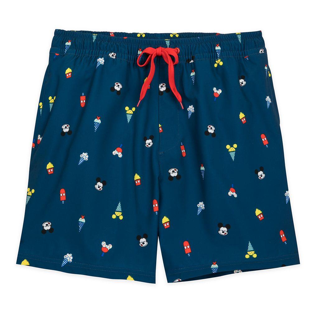 Mickey Mouse Summer Fun Swim Trunks for Men