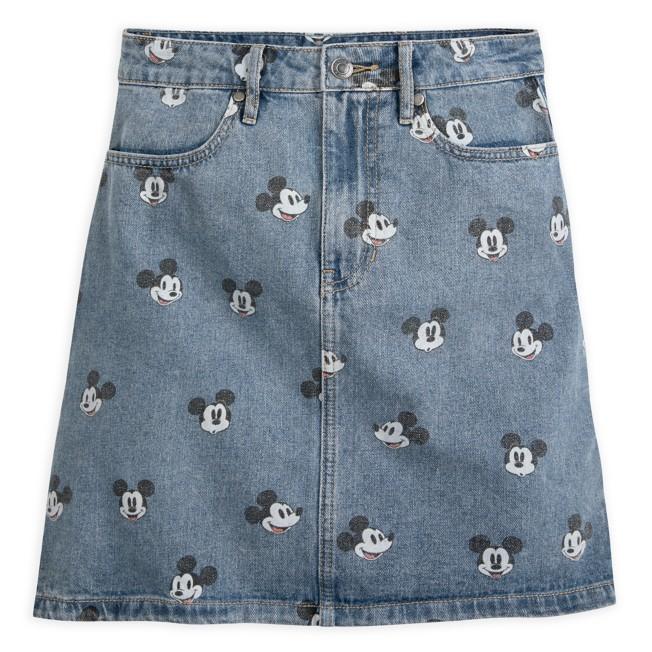 Mickey Mouse Denim Skirt for Women